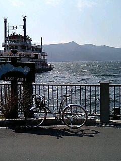 芦ノ湖だぉ